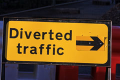 Road diversion sign Royalty Free Stock Photo