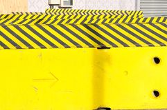 Road diversion sign for road works ahead. In street stock photography