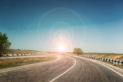 Road  dividing line Royalty Free Stock Photos