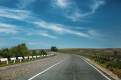 Road with dividing line Royalty Free Stock Image