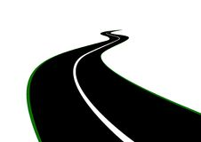 Road with a dividing strip Royalty Free Stock Photography