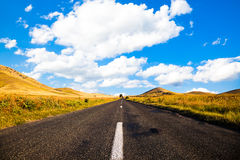Road in Dobrogea Royalty Free Stock Photos