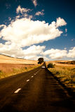 Road in Dobrogea Stock Photo