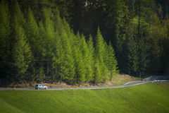 Road in the Dolomite mountains, Italy Stock Photo