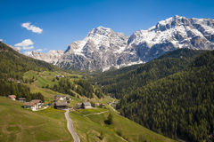 Road in the Dolomite mountains, Italy Stock Images