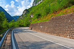 Road in the Dolomites Royalty Free Stock Image