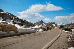 A road in the Dolomites Royalty Free Stock Images