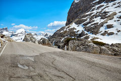 A road in the Dolomites Royalty Free Stock Photos