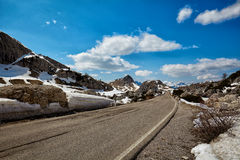 A road in the Dolomites Stock Photo