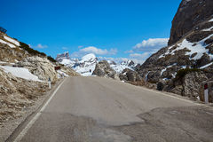 A road in the Dolomites Royalty Free Stock Image
