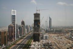 Road Doubai de V.A.E van Zayed van de sjeik stock afbeelding
