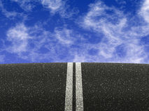 Road with double white lines Stock Image
