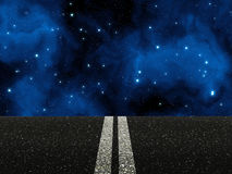 Road with double white lines Royalty Free Stock Image