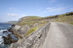 Road down to Coumeenoole Beach, Slea Head in Dingle Peninsula Royalty Free Stock Image