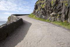 Road down to Coumeenoole Beach, Slea Head in Dingle Peninsula Royalty Free Stock Photos