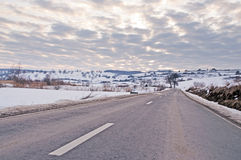 Road and dramatic sky Royalty Free Stock Image