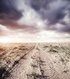 Road and dramatic sky Stock Images