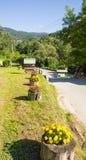 Road in Drvengrad on Mokra Gora in Serbia royalty free stock photo