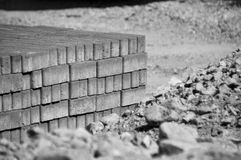 Road stone building Royalty Free Stock Images