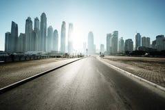 Road in Dubai Royalty Free Stock Photos