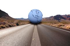 Road with earth(america) Stock Photos