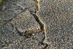 Road earthquake Stock Image