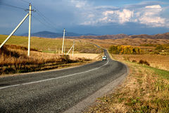 Road in East Kazakhstan Stock Images