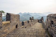 road in eastern Jinshanling Great Wall Stock Images