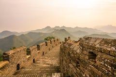 road in eastern Jinshanling Great Wall Royalty Free Stock Images