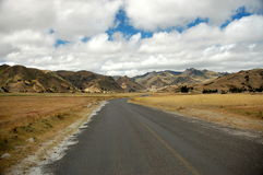 The road in Ecuador highlands. Photo was taken near Quilotoa lagoon Royalty Free Stock Images