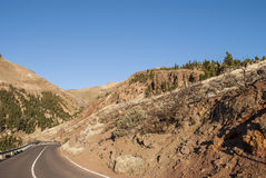 Road - El Teide National Park Royalty Free Stock Photography