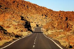 Road in El Teide National Park, Tenerife Royalty Free Stock Photos