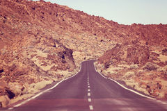 Road in El Teide National Park, Tenerife Stock Photography