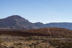 Road through El Teide National Park Royalty Free Stock Image