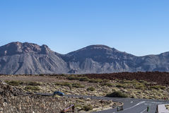 Road through El Teide National Park Stock Photography