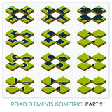 Road elements isometric. Vector maps constructor Stock Photo