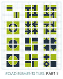 Road elements. Vector maps constructor Stock Photo
