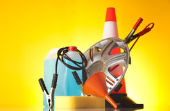 Road emergency items and car accessories Stock Photography