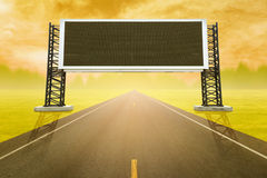 Road with empty large sign board Stock Photography