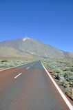 Road. Empty road near volcano in tenerife Stock Photo
