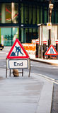 Road End sign Royalty Free Stock Photography