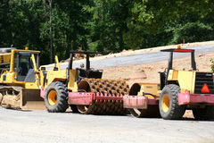 Road Equipment. Road construction heavy equipment Stock Images