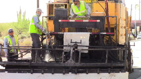 Road Equipment Operators stock video footage