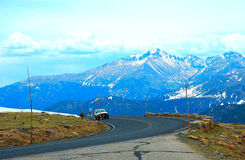 A road in Estes Park Royalty Free Stock Image