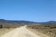 Road in Ethiopia. A rural road in northern Ethiopia royalty free stock photography