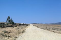 Road in Ethiopia. A rural road in northern Ethiopia royalty free stock image