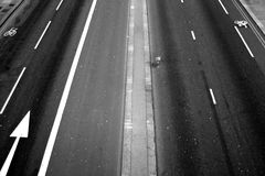 Road experience. Shot from bridge in London, UK Royalty Free Stock Photography
