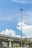 Road and express way on blue sky. Stock Image