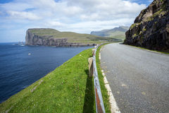 Road on Faeroe islands Royalty Free Stock Images