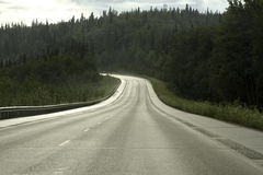 Road from Fairbanks to Anchorage Stock Photography